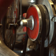 Close up of a metal motor for car