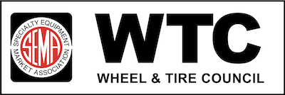 Wheel & Tire Council (WTC) logo in black and white